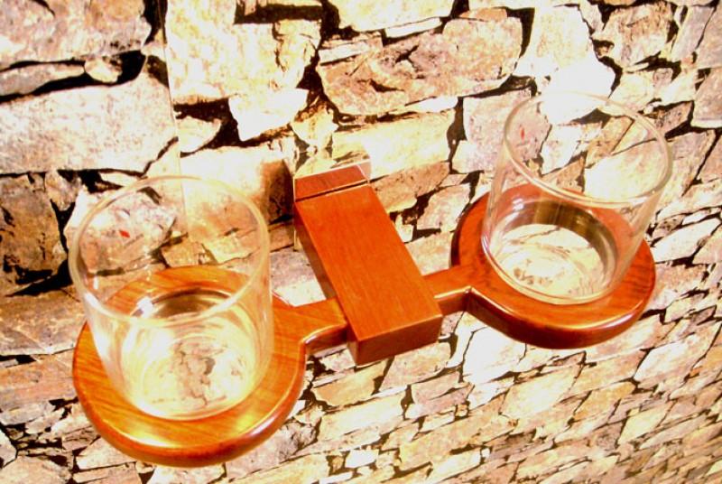 ELEGANCE - Dvojitý držiak na zubné kefky s pohármi