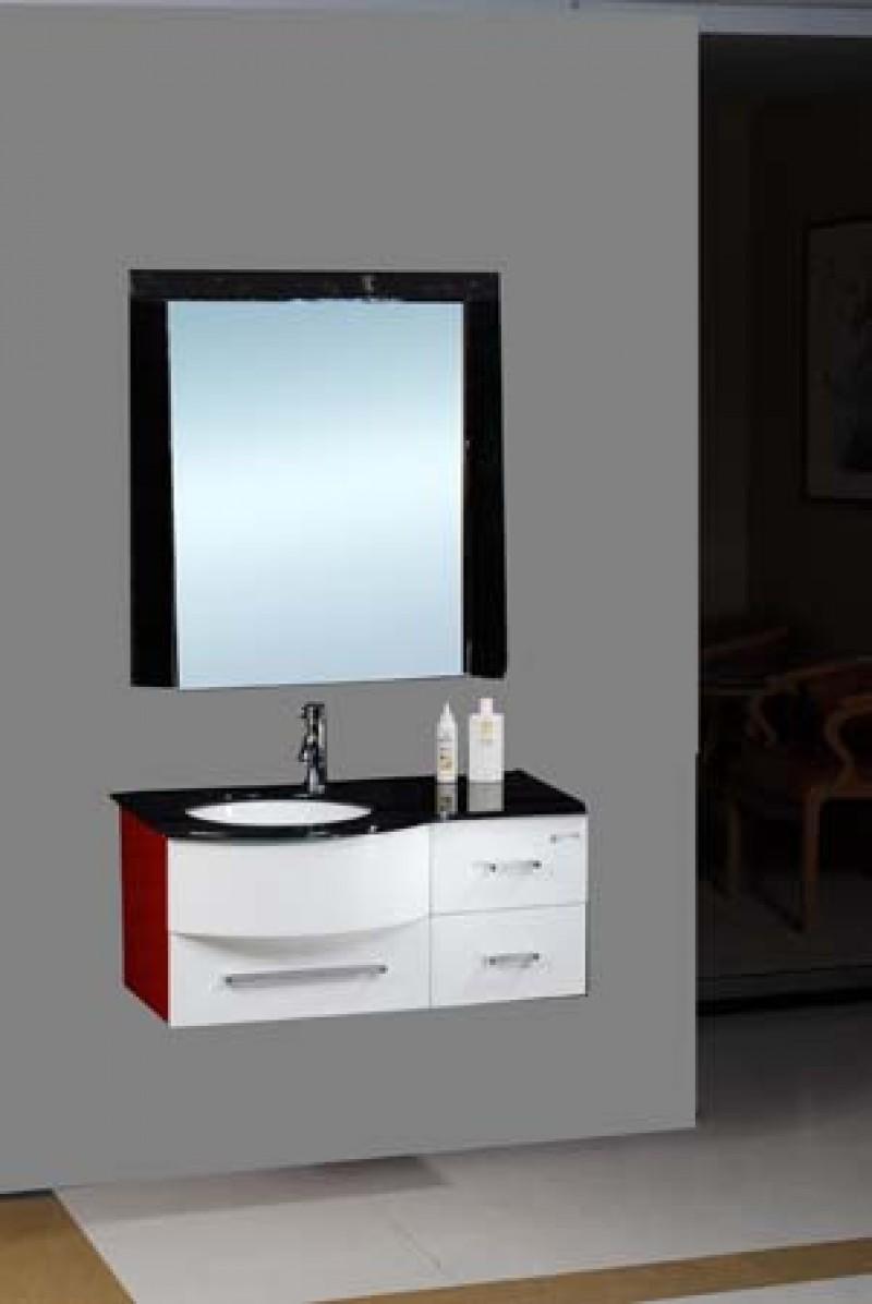 FRONTIER - Skrinka s umývadlom a zrkadlom