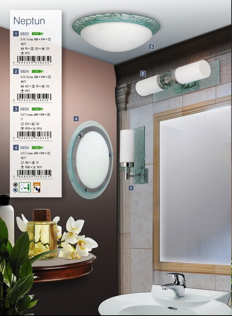 Kúpeľňové svietidlo Neptun