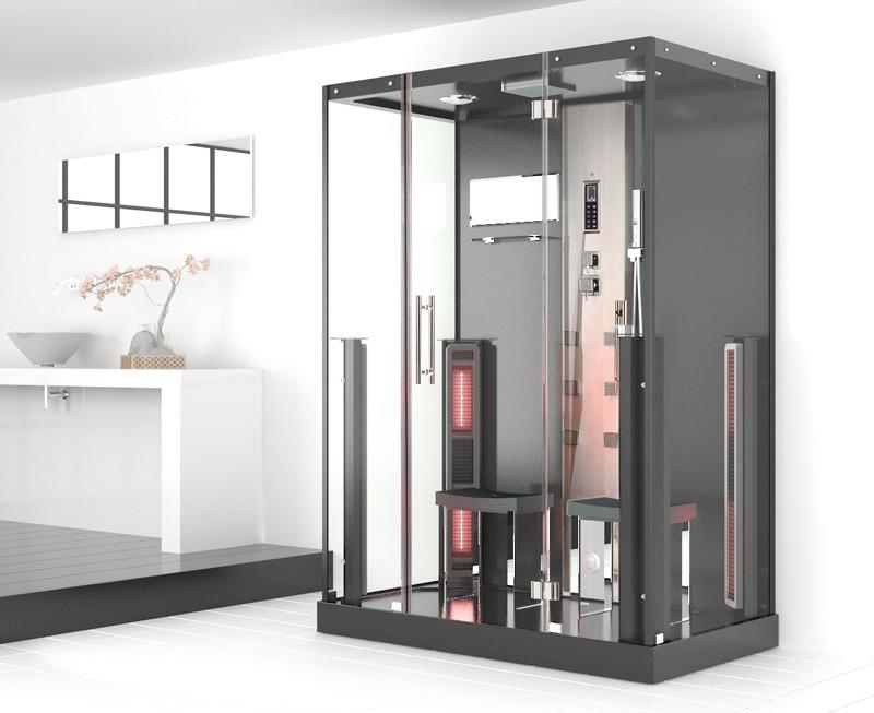 Parný sprchový kút a infračervená kabína pre 2 osoby