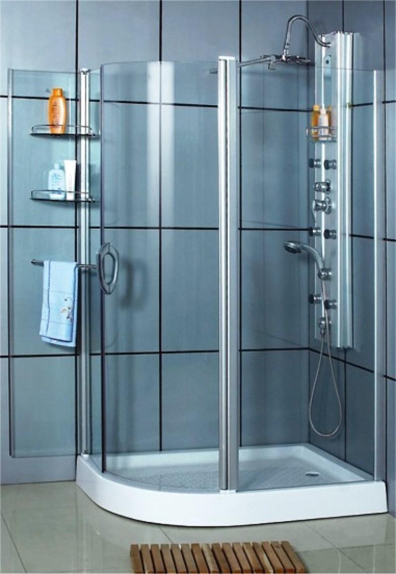 Sprchový asymetrický kút PORTO s vaničkou