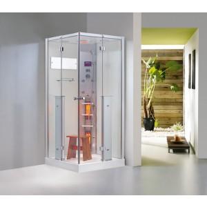 Parný sprchový kút a infračervená kabína