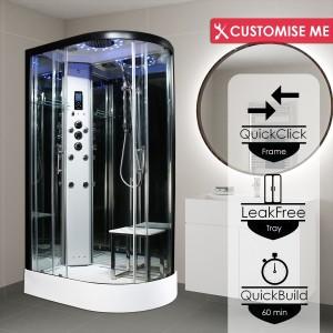 Parná kabína (sauna) Insignia 11L Platinium model 2021 ľavá verzia s aromaterapiou