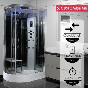 Parná kabína (sauna) Insignia 11R Platinium model 2020 pravá verzia s aromaterapiou