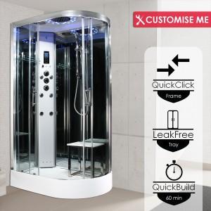 Parná kabína (sauna) Insignia 12L Platinium model 2020 ľavá verzia s aromaterapiou