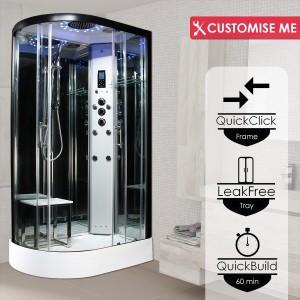 Parná kabína (sauna) Insignia 12R Platinium model 2020 pravá verzia s aromaterapiou