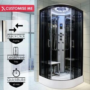 Parná kabína (sauna) Insignia 9 Platinium Model 2021 a termostatickopu batéroiu VELVET a AMI aromaterapiou