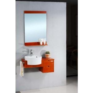 Skrinka s umývadlom a zrkadlom - Pravý dub SIGMA