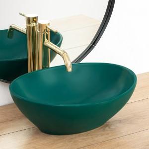 Keramické umývadlo na dosku SOFIA zelené 41cm