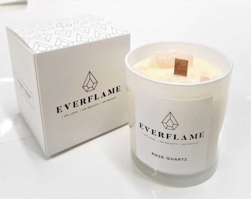 Sójová sviečka Everflame ruženín
